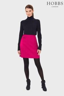 Hobbs Pink Arianne Wool Skirt