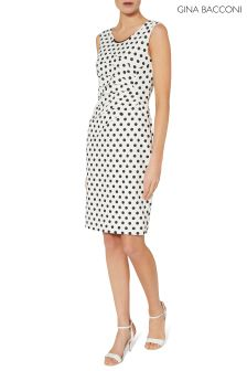 Ivonne Scuba Crepe Dress With Neck Trim