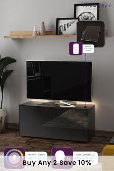 Frank Olsen Smart LED Black TV Cabinet