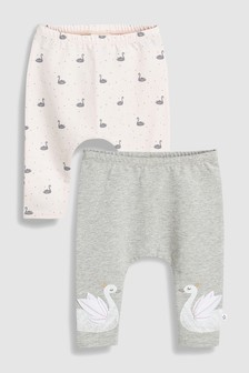 Swan Leggings Two Pack (0mths-2yrs)