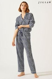 Jigsaw Blue Parisian Floral Pyjama