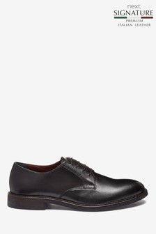 Signature Plain Derby Shoes