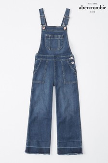 Abercrombie & Fitch Latzhose, dunkle Waschung