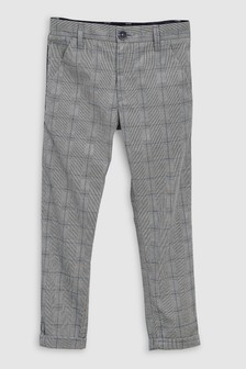 Check Side Stripe Trousers (3-16yrs)
