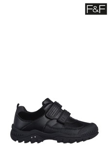 F&F Black Interactive PU Velcro Shoes