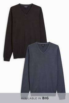 V-Neck Jumpers Two Pack