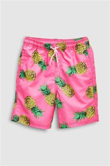 Pineapple Print Shorts (3-16yrs)