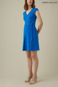 Karen Millen Blue Waist Detail Playsuit