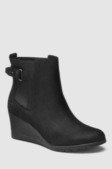 UGG® Indra Buckle Wedge Ankle Boot