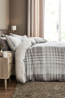 Secretly Soft Check Duvet Cover and Pillowcase Set