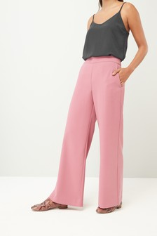 Rose                     Crepe Wide Leg Trousers