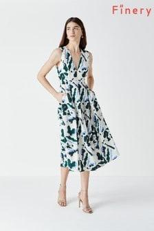 Finery White Henslowe Printed Dress