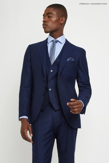 French Connection Slim Fit Ink Flannel Jacket