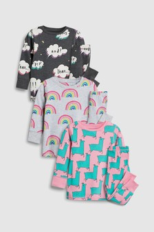 Printed Snuggle Fit Pyjamas Three Pack (9mths-8yrs)