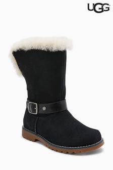 UGG® Kids Black Nessa Buckle Boot