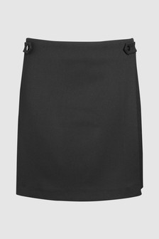 Tailored Wrap Mini Skirt