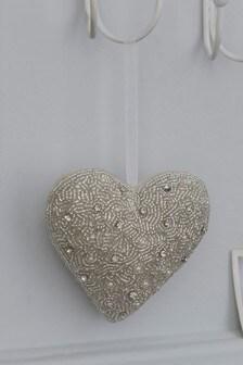 Beaded Heart Hanging Decoration