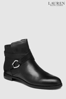 Lauren Ralph Lauren Black Hermione Strap Ankle Boot