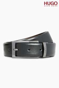 HUGO Black/Brown Elvio Reversible Belt