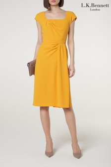 L.K.Bennett Yellow Denise Dress