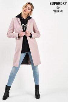 Superdry Pink Wool Coat