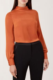 Hobbs Copper Jacqueline Blouse
