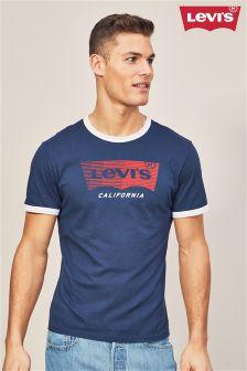Levi's® Navy Ringer Logo T-Shirt
