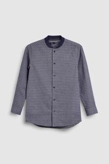 Long Sleeve Check Baseball Shirt (3-16yrs)