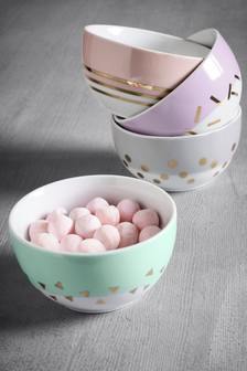 Set of 4 Confetti Dip Bowls