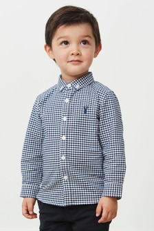 Gingham Long Sleeve Oxford Shirt (3mths-7yrs)