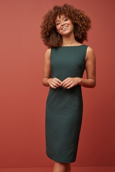 Sharkskin Texture Dress