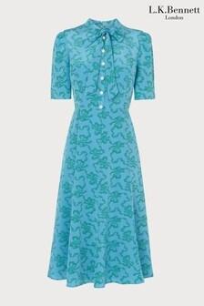 L.K.Bennett Blue Montague Dress