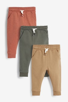 Trzy pary miękkich spodni dresowych (3m-cy-7lata)