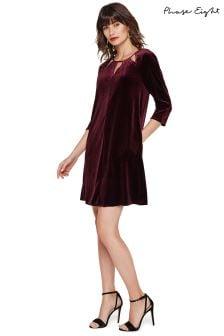 Phase Eight Purple Zoe Velvet Dress