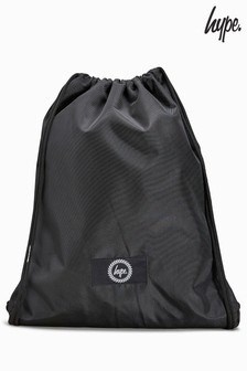 Hype. Black Drawstring Bag