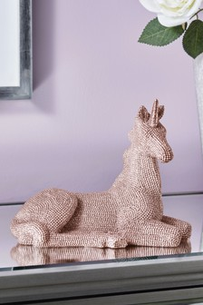 Diamanté Effect Unicorn Sculpture