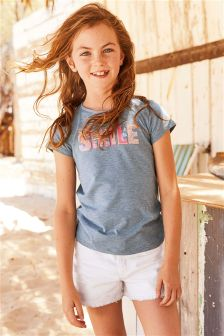 Smile Short Sleeve T-Shirt (3-16yrs)