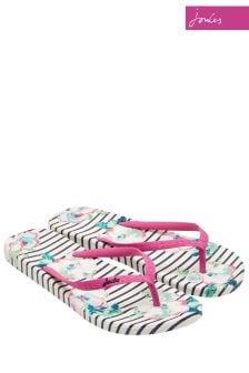 Joules Floral Stripe Flip Flop