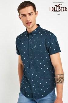 Hollister Navy Print Shirt