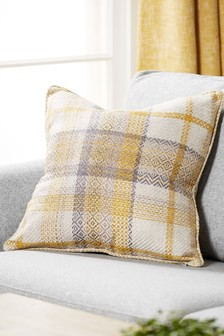 Dalton Woven Check Cushion