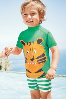 Green Tiger Two Piece Sunsafe Set (3mths-6yrs)