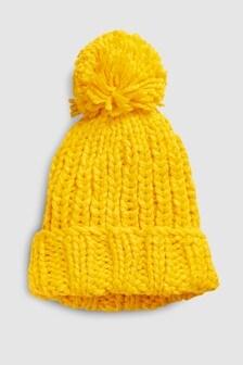 Hand Knitted Pom Beanie Hat (Older)