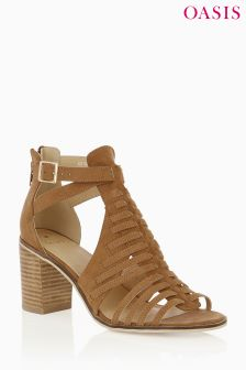 Oasis Tan Millie Block Shoe