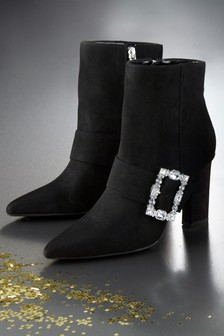 Feature Heel Ankle Boots