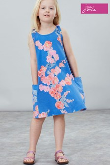 Joules Blue Madeline Jersey Tie Dress