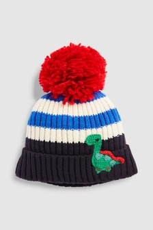 Stripe Dino Pom Hat (Younger)