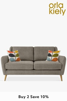 Orla Kiely Fern Small Sofa with Oak Feet
