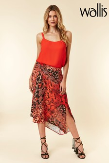 Wallis Red Sunset Snake Skirt