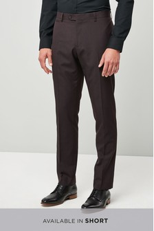 Slim Fit Check Shawl Tuxedo Suit: Trouser