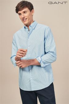 GANT Capri Blue Micro Dot Diamond Shirt